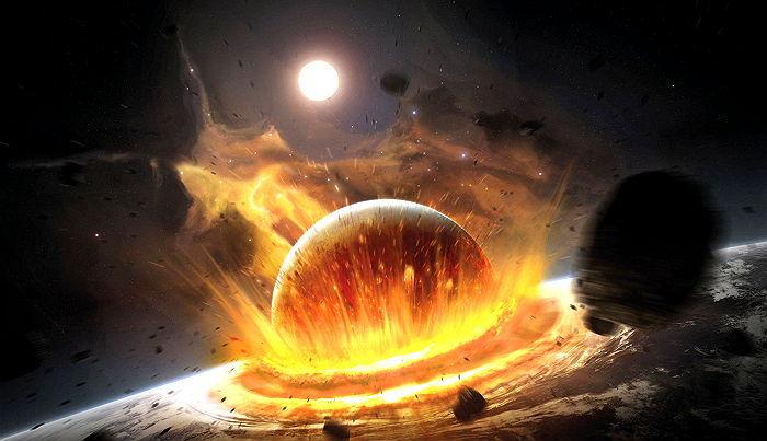 earth4 - 2017年9月23日、惑星衝突で地球が「滅亡」するかもしれない