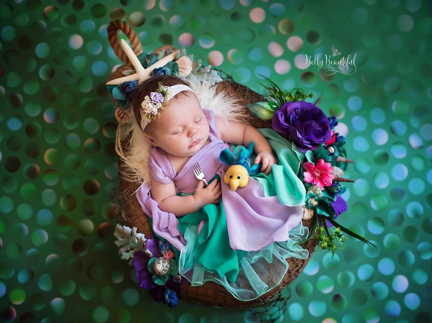 ec9db8ec96b41 - 디즈니 공주님으로 변신한 6명의 사랑스러운 아기들 (사진)