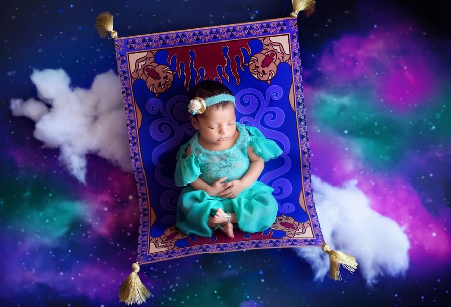 ec9e90ec8aa4ebafbc - 디즈니 공주님으로 변신한 6명의 사랑스러운 아기들 (사진)