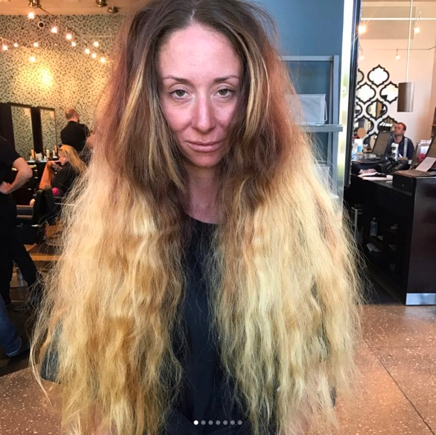 img 599b97574222c - Bride-To-Be Hasn't Cut Hip-Length Hair In Years, So Stylist Totally Transforms Her For Wedding