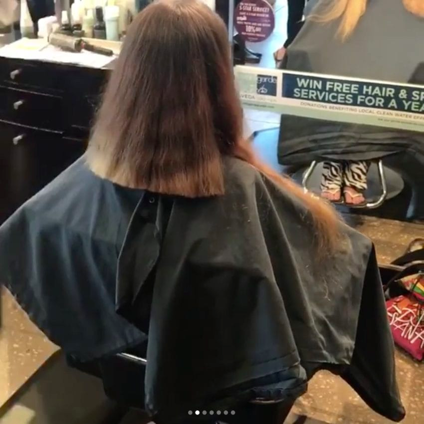 img 599b976f58718 - Bride-To-Be Hasn't Cut Hip-Length Hair In Years, So Stylist Totally Transforms Her For Wedding