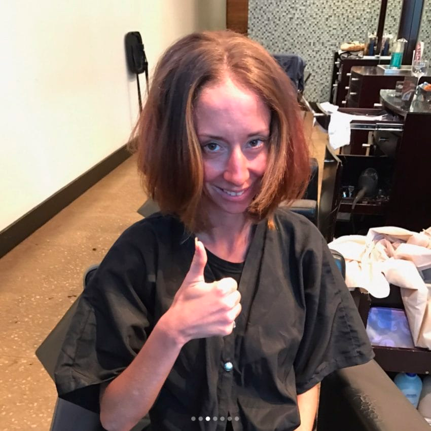 img 599b977d408d5 - Bride-To-Be Hasn't Cut Hip-Length Hair In Years, So Stylist Totally Transforms Her For Wedding