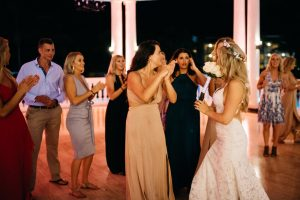 jessjamesweddingf 10 300x200 - Bride Is About To Throw Bouquet, But Suddenly, A Man Takes It And Goes Down On His Knees