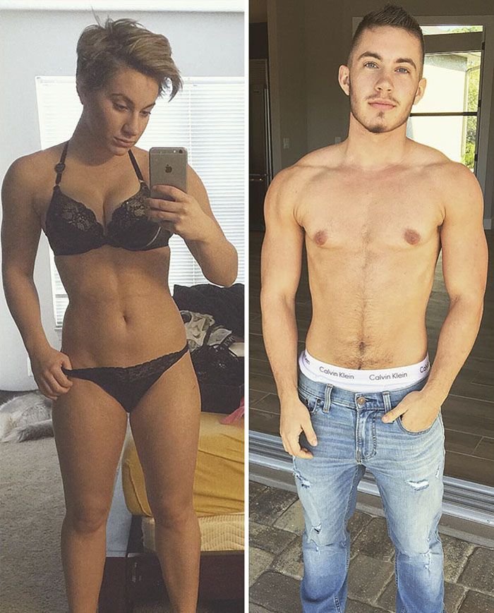transgender man before and after jamie wilson 15 - 친구와 가족을 잃은 남자... SNS에 자신의 놀라운 '과거' 사진을 올렸다