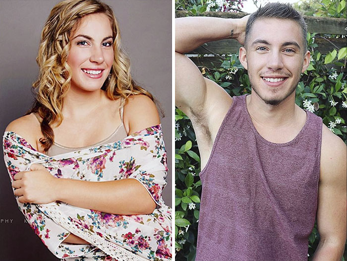 transgender man before and after jamie wilson 597ecfdc8924c  700 - 친구와 가족을 잃은 남자... SNS에 자신의 놀라운 '과거' 사진을 올렸다