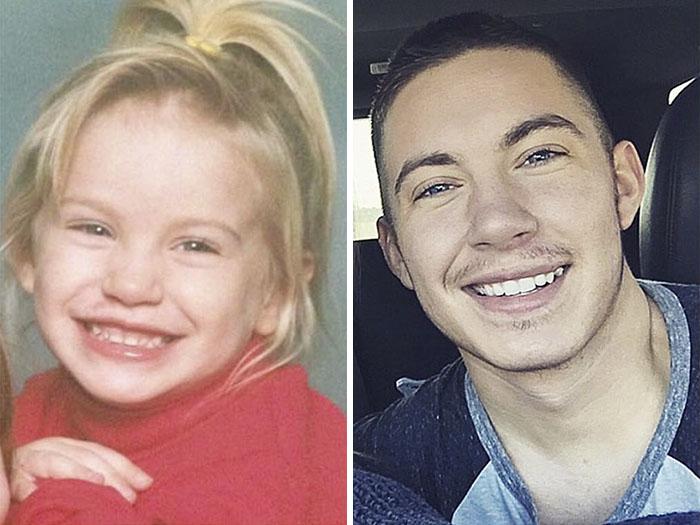 transgender man before and after jamie wilson 597ecfe2d84f5  700 - 친구와 가족을 잃은 남자... SNS에 자신의 놀라운 '과거' 사진을 올렸다