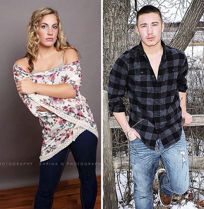 transgender man before and after jamie wilson 597ecfe50e43a  700 - 친구와 가족을 잃은 남자... SNS에 자신의 놀라운 '과거' 사진을 올렸다