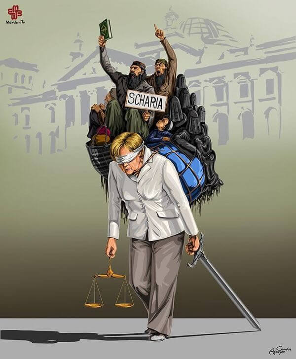 ad femidead satirical illustrations by gunduz agayev 02 - 세계 지도자들이 '정의'를 어떻게 다루는지 나타낸 일러스트 14장