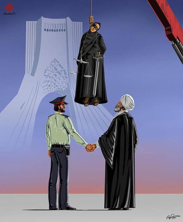 ad femidead satirical illustrations by gunduz agayev 03 - 세계 지도자들이 '정의'를 어떻게 다루는지 나타낸 일러스트 14장
