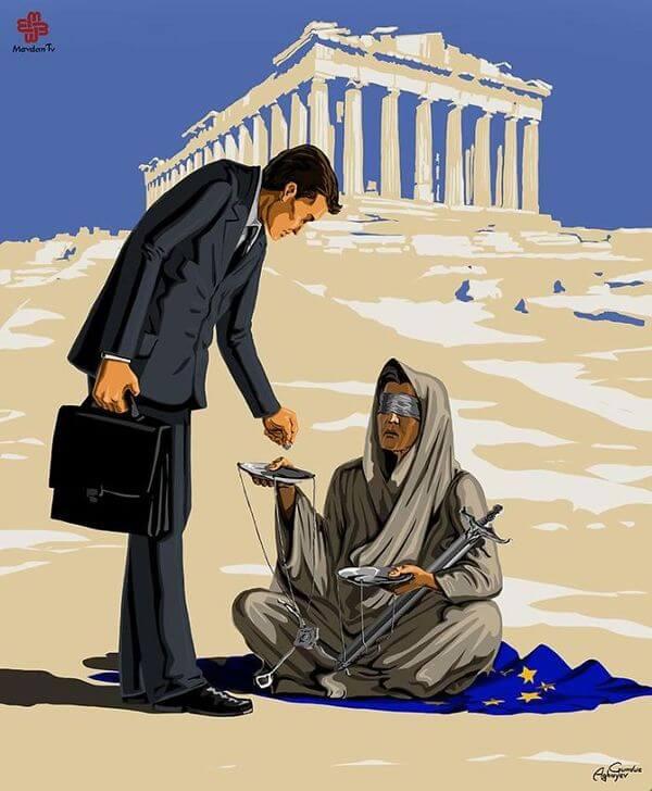 ad femidead satirical illustrations by gunduz agayev 04 - 세계 지도자들이 '정의'를 어떻게 다루는지 나타낸 일러스트 14장