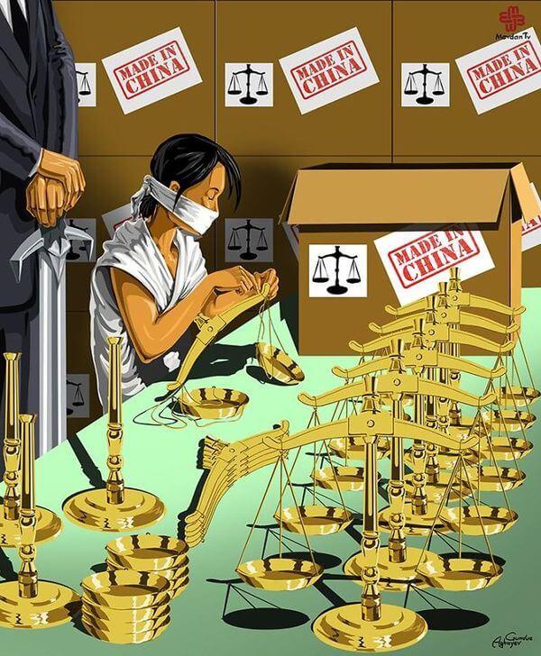 ad femidead satirical illustrations by gunduz agayev 05 - 세계 지도자들이 '정의'를 어떻게 다루는지 나타낸 일러스트 14장