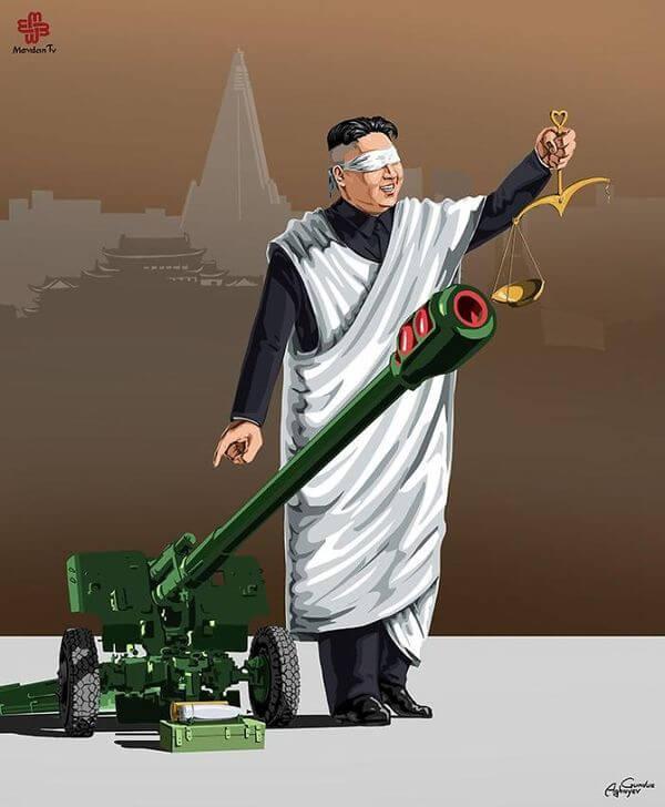 ad femidead satirical illustrations by gunduz agayev 06 - 세계 지도자들이 '정의'를 어떻게 다루는지 나타낸 일러스트 14장