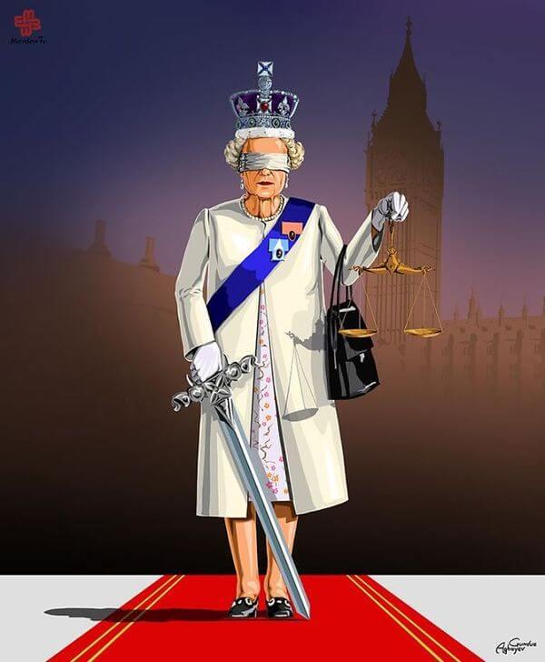 ad femidead satirical illustrations by gunduz agayev 09 - 세계 지도자들이 '정의'를 어떻게 다루는지 나타낸 일러스트 14장