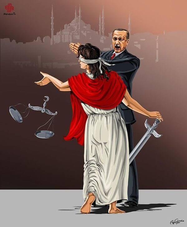 ad femidead satirical illustrations by gunduz agayev 10 - 세계 지도자들이 '정의'를 어떻게 다루는지 나타낸 일러스트 14장