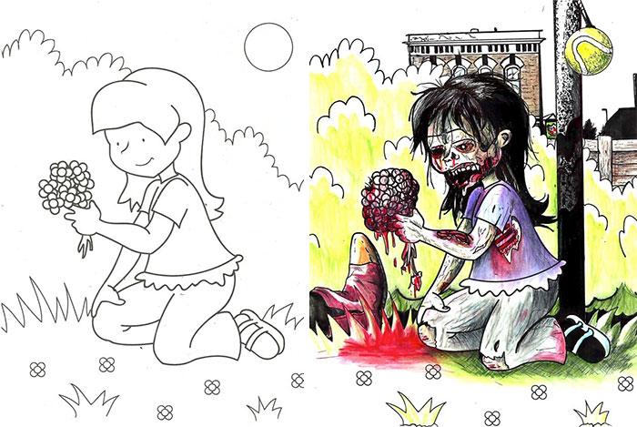 adults coloring childrens books 109 59919bad9256a  700 - 동심파괴 주의! 어린이용 '컬러링북'을 어른이 하면 벌어지는 일 (사진 16장)