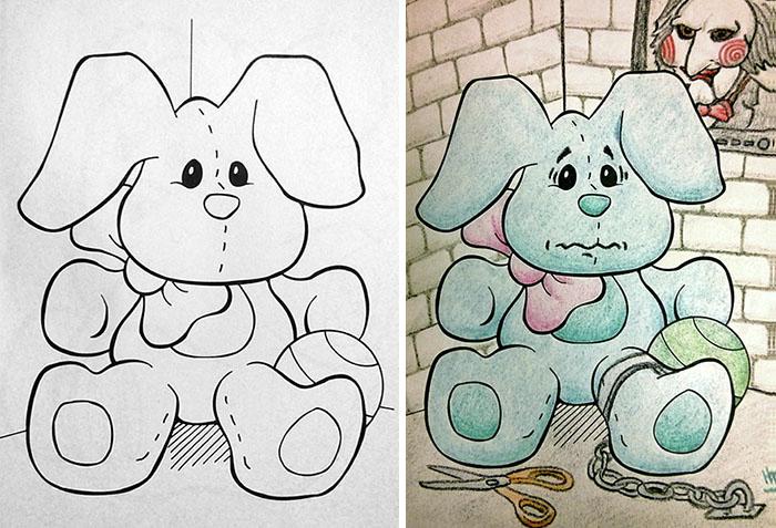 adults coloring childrens books1 5 599198c81f283  700 - 동심파괴 주의! 어린이용 '컬러링북'을 어른이 하면 벌어지는 일 (사진 16장)