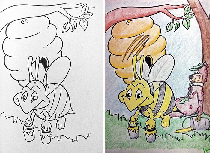 adults coloring childrens books1 8 599198e365f29  700 1 - 동심파괴 주의! 어린이용 '컬러링북'을 어른이 하면 벌어지는 일 (사진 16장)