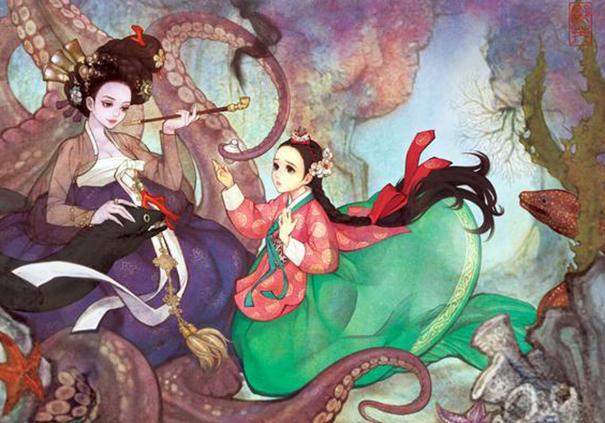 asian korean disney remake illustration na young wu 12 - 해외에서 더 유명한 '한복을 입은 디즈니 공주들' 일러스트(사진 10장)