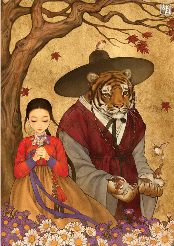 asian korean disney remake illustration na young wu 6 - 해외에서 더 유명한 '한복을 입은 디즈니 공주들' 일러스트(사진 10장)