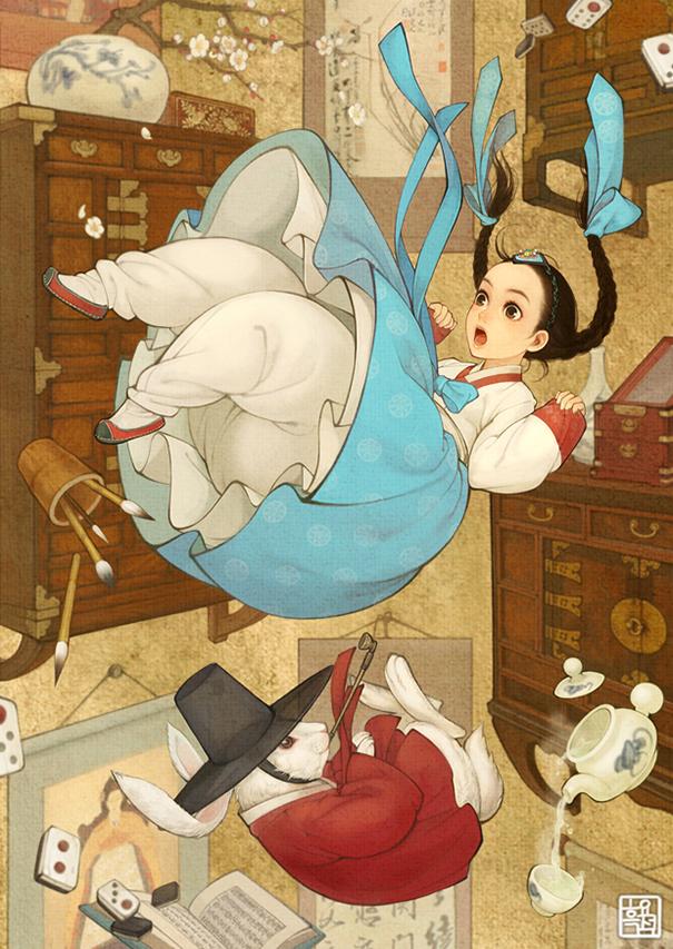 asian korean disney remake illustration na young wu 7 - 해외에서 더 유명한 '한복을 입은 디즈니 공주들' 일러스트(사진 10장)