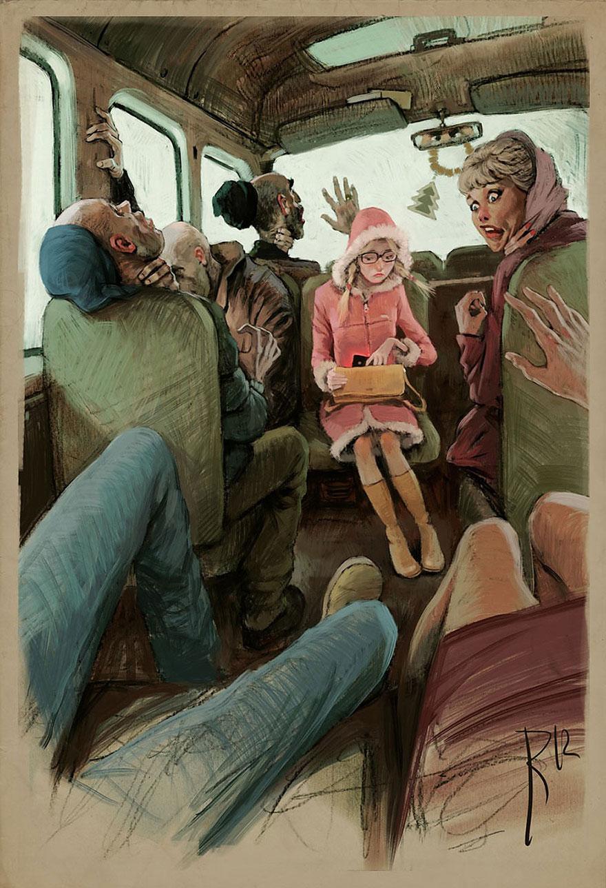 dark surreal digital art waldemar von kozak 11 - '숨겨진 사회적 메시지' 담은 러시아 일러스트레이터의 작품 (사진 15장)