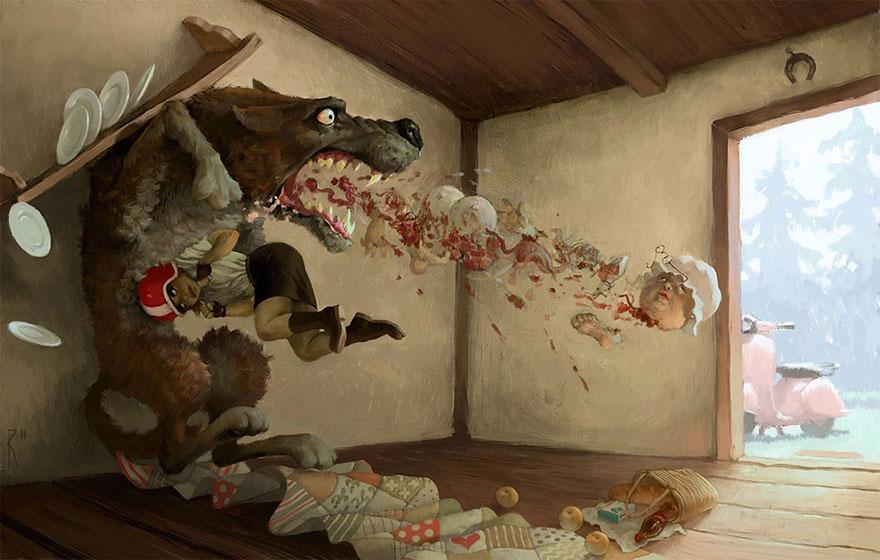 dark surreal digital art waldemar von kozak 16 - '숨겨진 사회적 메시지' 담은 러시아 일러스트레이터의 작품 (사진 15장)