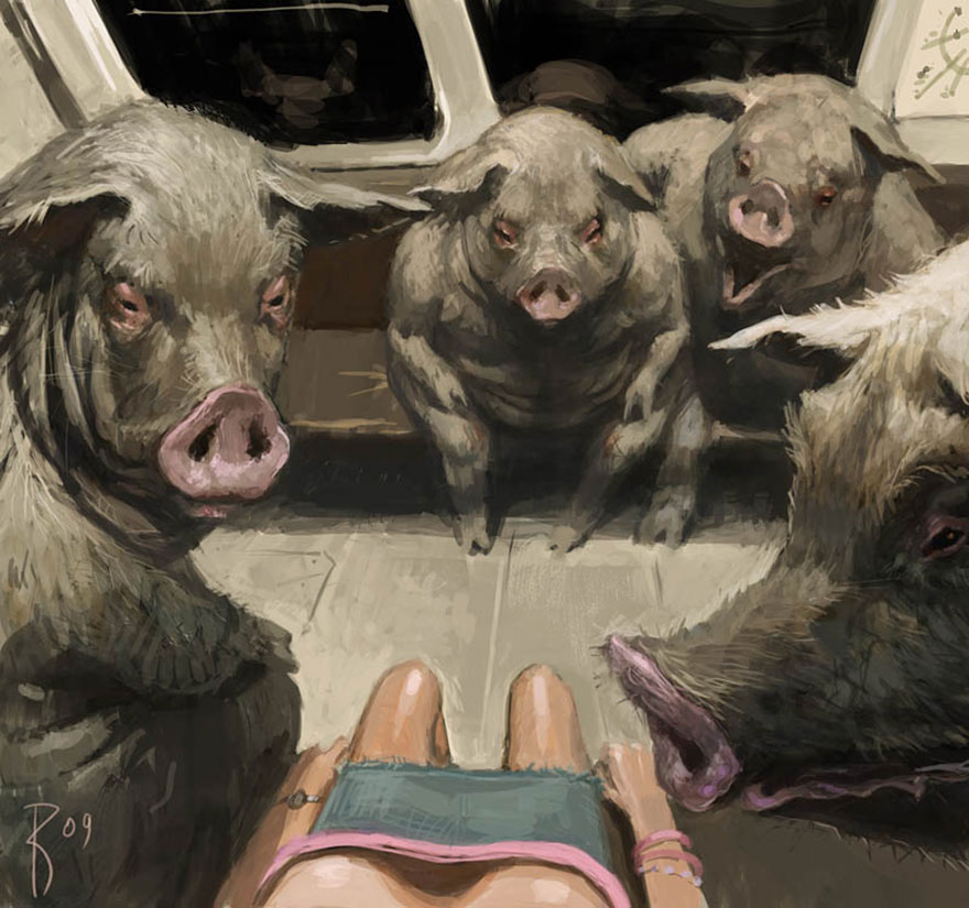 dark surreal digital art waldemar von kozak 20 - '숨겨진 사회적 메시지' 담은 러시아 일러스트레이터의 작품 (사진 15장)