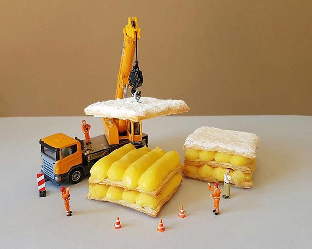 """dessert miniatures pastry chef matteo stucchi 3 - """"너무 깜찍해!"""" 달콤한 디저트 속 펼쳐진 작은 세상 (사진10장)"""