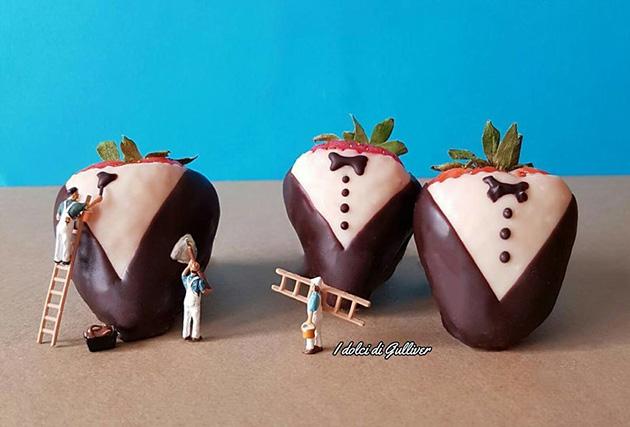 """dessert miniatures pastry chef matteo stucchi 6 - """"너무 깜찍해!"""" 달콤한 디저트 속 펼쳐진 작은 세상 (사진10장)"""
