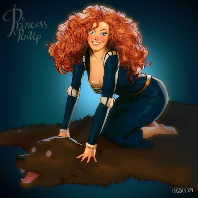disney princess pin ups 5 630x630 - '핀업걸'로 변신한 '디즈니' 만화 속 공주와 악당 캐릭터들 (사진 19장)