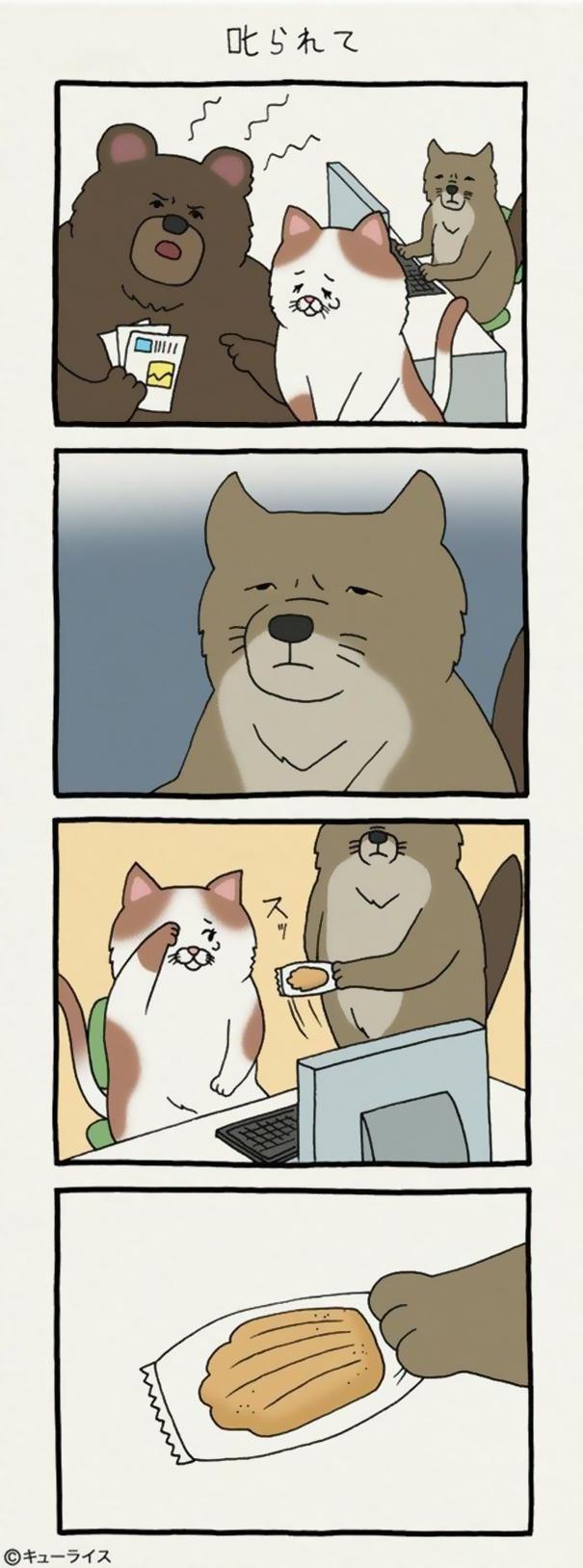dog cartoon comics qrais japan 11 59895b420d00d  605 - 우울한 당신을 웃게 해줄 '착한 티벳 여우' 4컷 만화