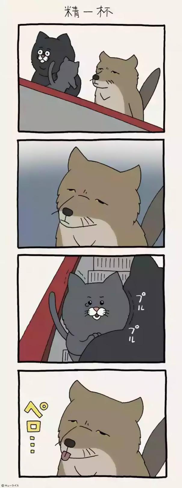 dog cartoon comics qrais japan 12 59895b4608e7f  605 - 우울한 당신을 웃게 해줄 '착한 티벳 여우' 4컷 만화