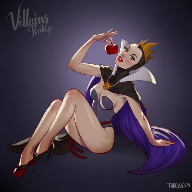 evil queen - '핀업걸'로 변신한 '디즈니' 만화 속 공주와 악당 캐릭터들 (사진 19장)