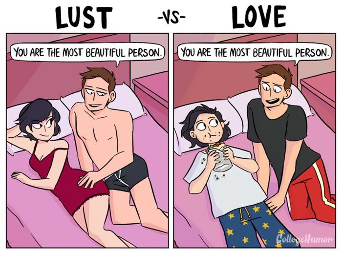 "lust vs love comics shea strauss karina farek 2 57cfafda15346  700 - ""성욕 혹은 사랑"" 연인과의 관계 보여주는 두컷 만화 6편"