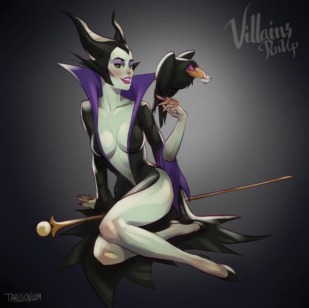 maleficent - '핀업걸'로 변신한 '디즈니' 만화 속 공주와 악당 캐릭터들 (사진 19장)