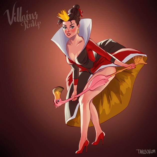 queen of hearts - '핀업걸'로 변신한 '디즈니' 만화 속 공주와 악당 캐릭터들 (사진 19장)