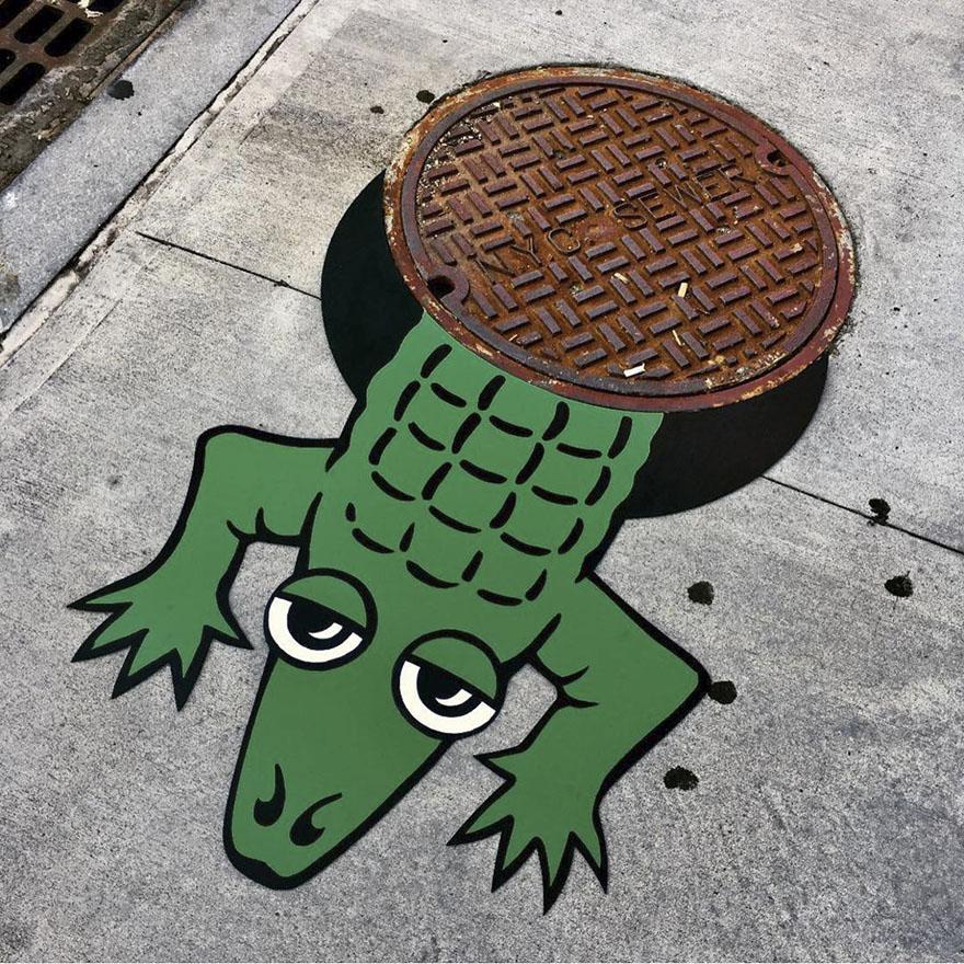 street art tom bob new york 15 5979857590ea2  880 - 뉴욕의 천재 '거리예술가' 손에 재탄생한 길거리 (사진 25장)