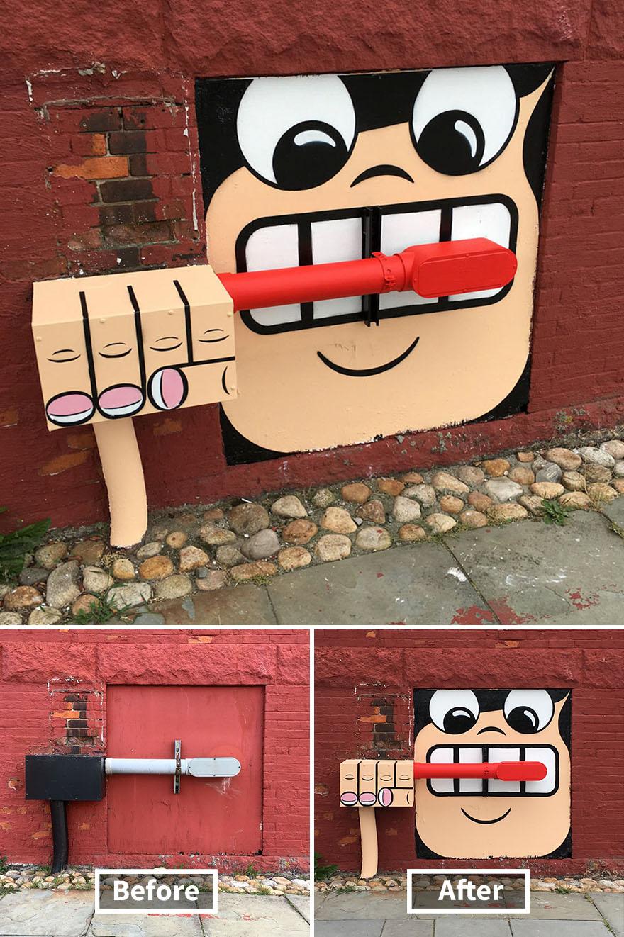 street art tom bob new york 49 5979ae96e725f  880 - 뉴욕의 천재 '거리예술가' 손에 재탄생한 길거리 (사진 25장)