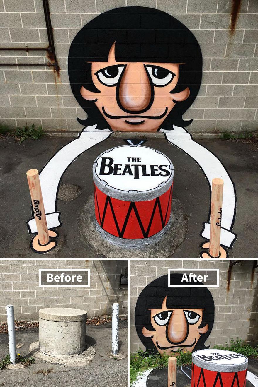 street art tom bob new york 53 5979b0d3eb840  880 - 뉴욕의 천재 '거리예술가' 손에 재탄생한 길거리 (사진 25장)