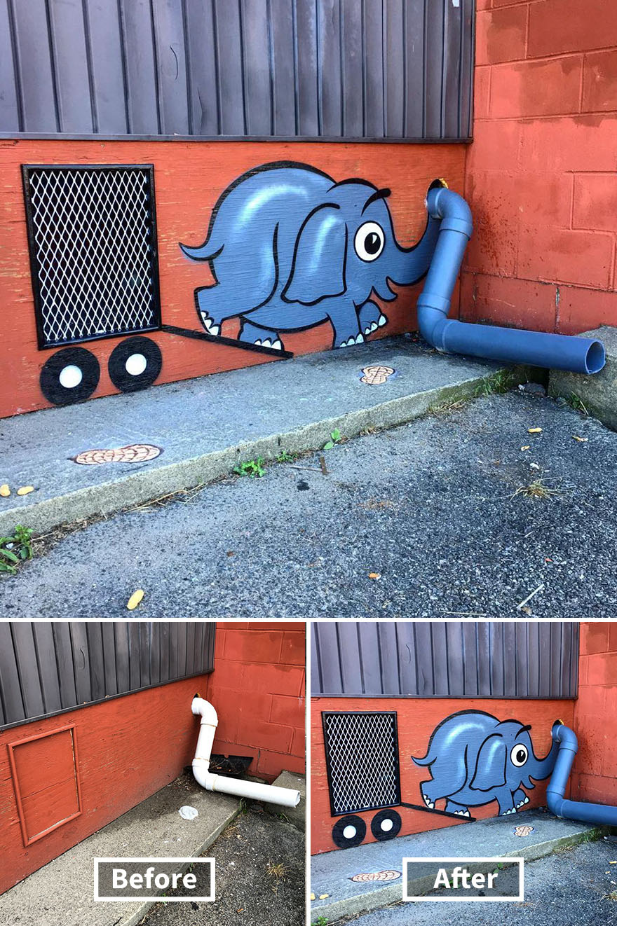 street art tom bob new york 54 5979b244cb70a  880 - 뉴욕의 천재 '거리예술가' 손에 재탄생한 길거리 (사진 25장)