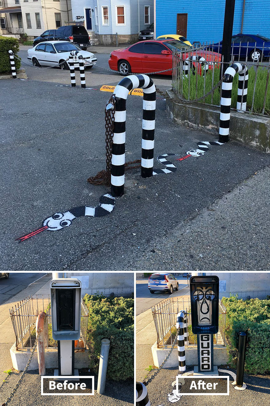 street art tom bob new york 56 5979b3442cfc0  880 - 뉴욕의 천재 '거리예술가' 손에 재탄생한 길거리 (사진 25장)