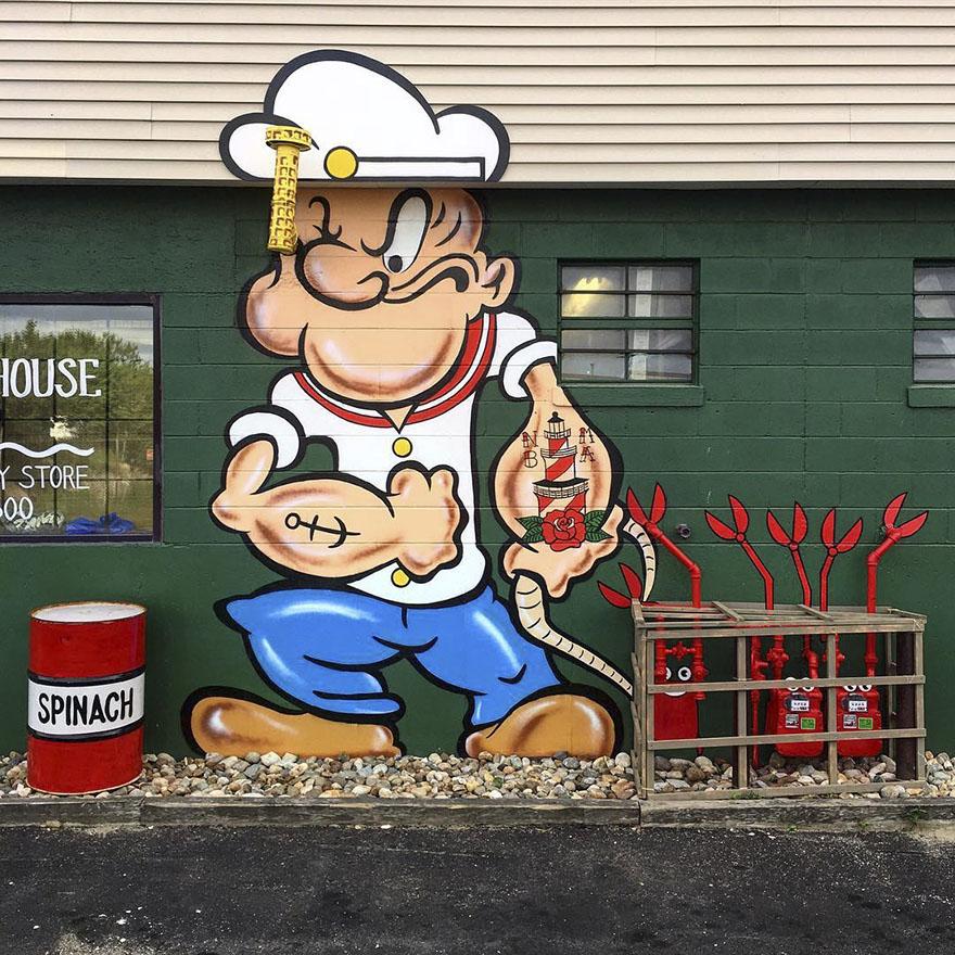 street art tom bob new york 59798bf46555a  880 - 뉴욕의 천재 '거리예술가' 손에 재탄생한 길거리 (사진 25장)