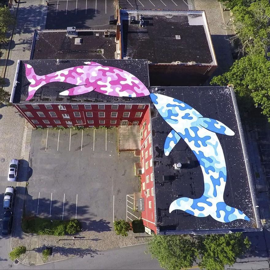 street art tom bob new york 59798bfe1486f  880 - 뉴욕의 천재 '거리예술가' 손에 재탄생한 길거리 (사진 25장)