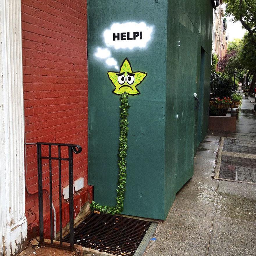street art tom bob new york 59798c10af299  880 - 뉴욕의 천재 '거리예술가' 손에 재탄생한 길거리 (사진 25장)