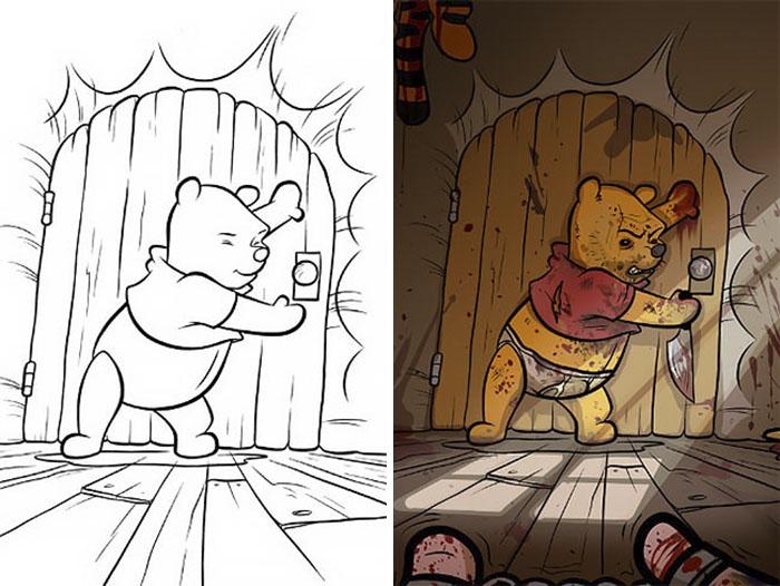 this is what happens when adults color drawings for children 59915c123f323  700 - 동심파괴 주의! 어린이용 '컬러링북'을 어른이 하면 벌어지는 일 (사진 16장)