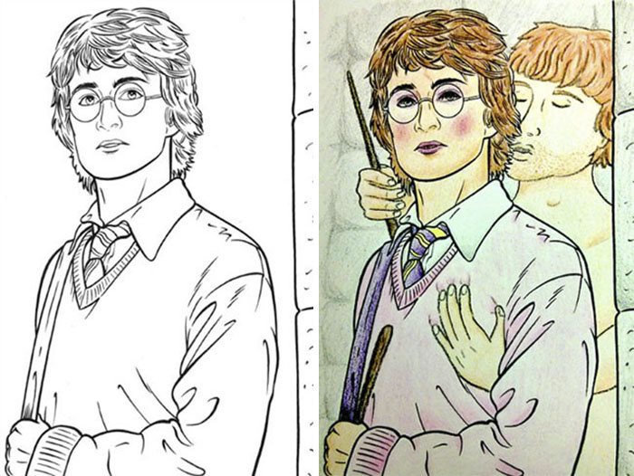 this is what happens when adults color drawings for children 59915c1615913  700 - 동심파괴 주의! 어린이용 '컬러링북'을 어른이 하면 벌어지는 일 (사진 16장)