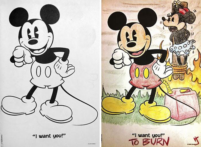 this is what happens when adults color drawings for children 59915c1c98770  700 - 동심파괴 주의! 어린이용 '컬러링북'을 어른이 하면 벌어지는 일 (사진 16장)