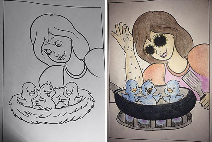 this is what happens when adults color drawings for children 59915c3c2f193  700 - 동심파괴 주의! 어린이용 '컬러링북'을 어른이 하면 벌어지는 일 (사진 16장)