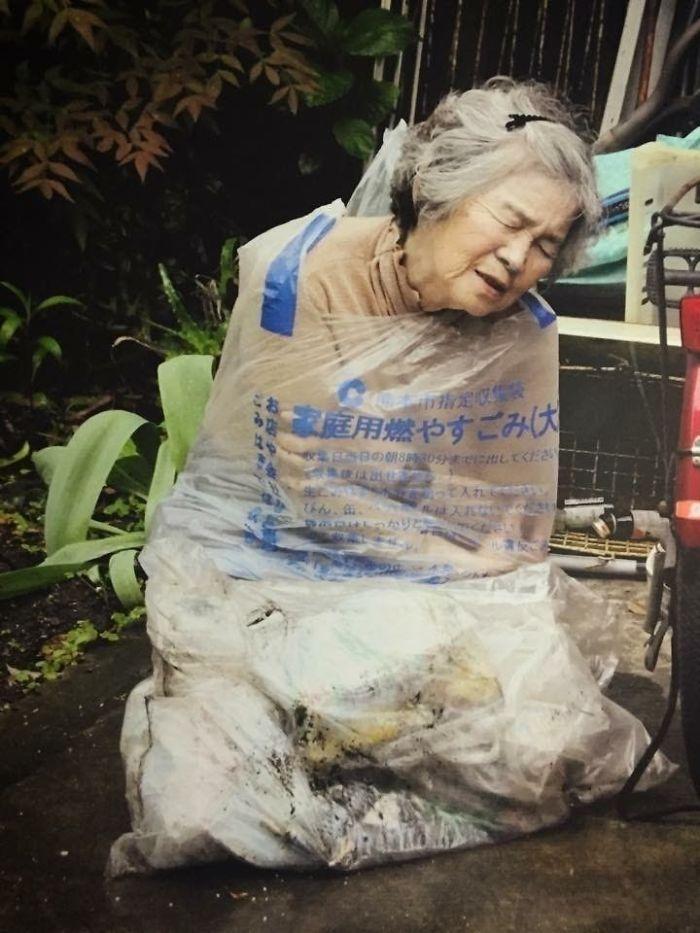 funny self portraits kimiko nishimoto 89 year old 14 5a0a9df1dce87  700 - 89세 할머니가 사진을 배운 후 '직접' 찍은 유쾌한 사진들(+13)