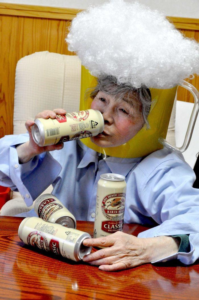 funny self portraits kimiko nishimoto 89 year old 7 5a0a9e0a544fa  700 - 89세 할머니가 사진을 배운 후 '직접' 찍은 유쾌한 사진들(+13)